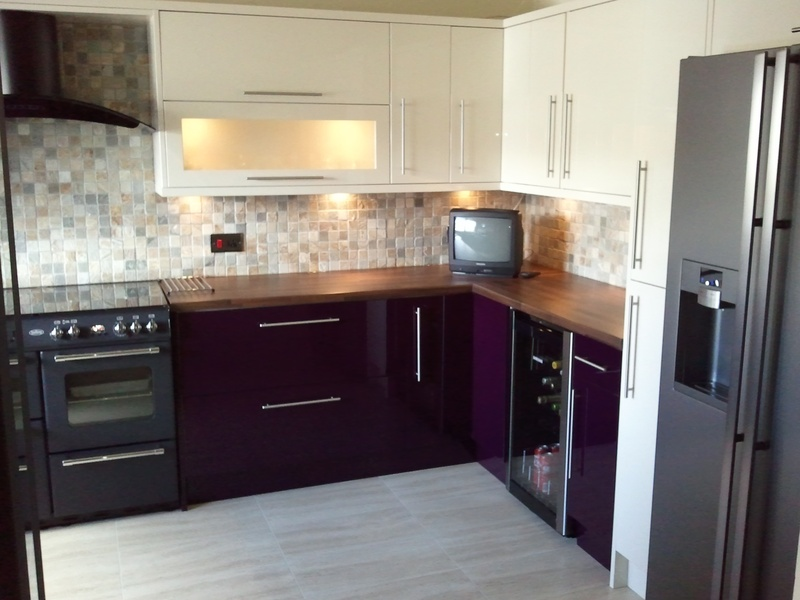 Great Cook & Lewis kitchen High gloss Aubergine & Cream 800 x 600 · 123 kB · jpeg